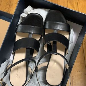Cole Haan Cherie black leather sandals
